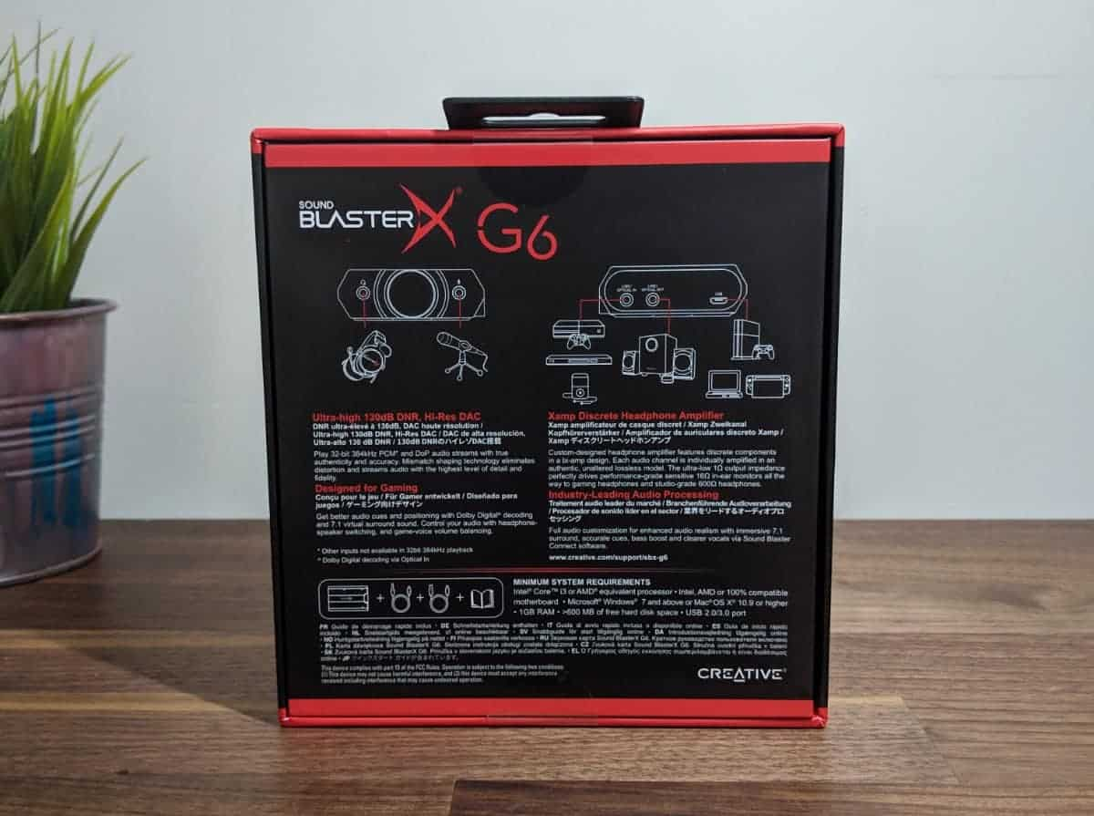 Creative Sound BlasterX G6 Review - The Streaming Blog